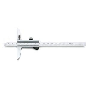 Mélységmérő rozsdamentes acélból,  tokban, pontosság 0.02 mm