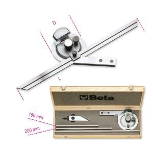 Dőlésszögmérő, rozsdamentes  acélból, kemény dobozban