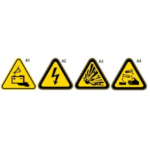 Alumínium figyelmeztető tábla