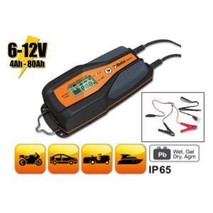 6-12 V autó-motor elektronikus akkumulátortöltő