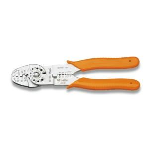 Saruzófogó nem szigetelt  kábelsarukhoz, nyitott modell,  standard modell, krómozott,  műanyag szárral