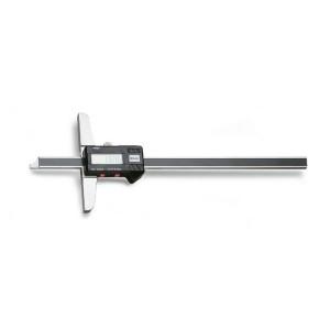 Digitális mélységmérő rozsdamentes  acélból, fadobozban,  pontosság: 0.01 mm