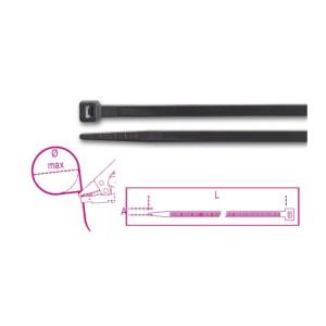 Műanyag kábelkötegelő szalag, fekete UV-álló