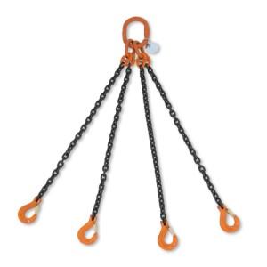 Rögzítő emelőheveder 4 karos lánc táskában