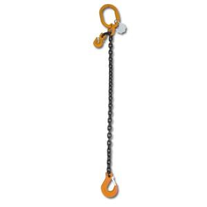 Rögzítő emelőheveder közelítő horgokkal 1 karos lánc, táskában