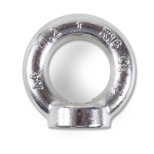 Emelő fülescsavar, rozsdamentes acél A4 külső, KOVÁCSOLT