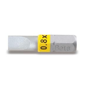 Színes csavarhúzóbetét hasítottfejű csavarokhoz