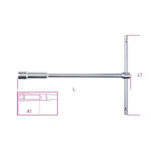 T szárú egyszerű kulcs mély hatlapfejű dugóvéggel