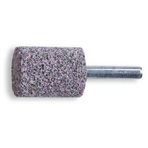 Stiftslijpstenen, grijs/roze korund slijpkorrel, keramische binding, cilinder vorm