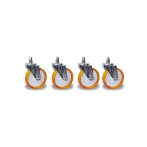 4 reserve wielen voor motorensteun artikel 3014SAR