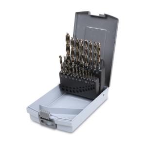 Set van 19 boren, HSS,  speciaal vervaardigd  met dubbele penetratiekegel
