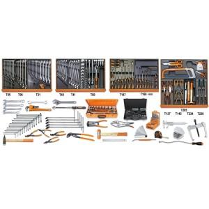 Assortiment van 261 gereedschappen voor industrieel onderhoud in voorgevormde ABS inlegbakken