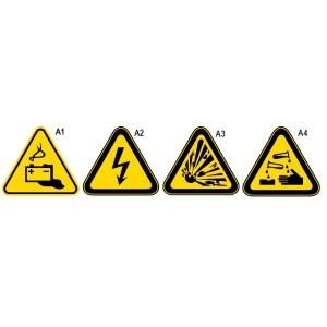 Aluminium waarschuwings tekens