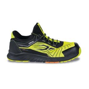 Net weefsel schoen, sterk ventilerend, met TPU inzetstukken Hoge zichtbaarheid net afwerking bovenkant