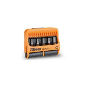 10-del.set bits met magnetische bithouder in kunststof houder