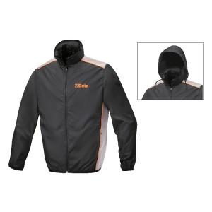 Waterafstotende jas, 100% polyester, opvouwbaar tot zakformaat