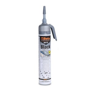 Zwarte azijnzuur-uithardende siliconenkit, bestand tegen hoge temperaturen, met handige drukdispenser