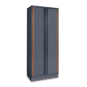 Plaatstalen dubbele deurskast, als deel van een werkplaatsinrichting RSC55