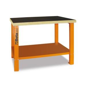 Werkbank met houten werkblad