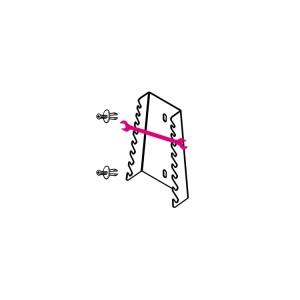 Wandhouder voor 8 dubbele steeksleutels