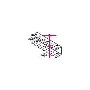 Houder voor T sleutels met zeskantstift uiteinden
