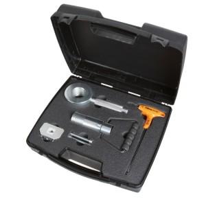 Kit voor het verwijderen en monteren van dubbelwerkende schokdempers op gas
