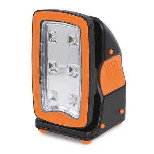 Rechargeable, ultracompact spotlight, designed to offer the best possible solution for each use