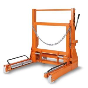 Krik en bandenplaatser  voor enkel en dubbel lucht vrachtwagen wielen
