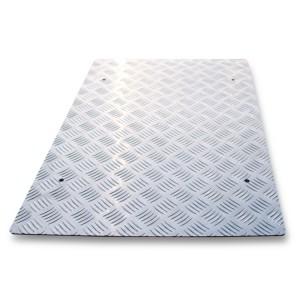 Anti -slip metalen topplaat   voor hefbrug artikel 3050/600