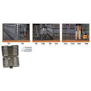 Assortiment van 197 gereedschappen in ABS voorgevormde inlegbakken