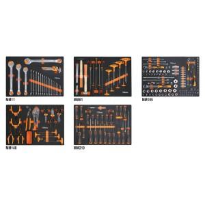 Assortiment van 231 gereedschappen in EVA foam inlegbakken