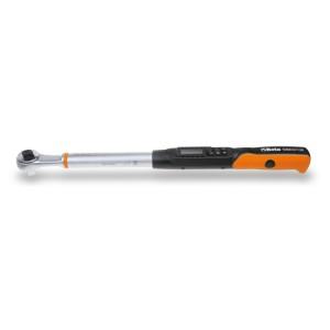 Electronische momentsleutel met omschakelbare ratel,  rechtsom (nauwkeurigheid: ±2%) en links om (nauwkeurigheid: ±3%) aanhalen