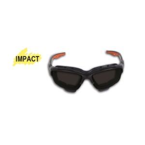 Veiligheidsbril met donker glas uit polycarbonaat