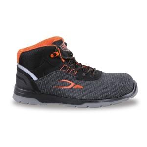 Stoffen enkelhoge schoen, zeer slijtvast, met snel extractie systeem en hielstabiliteits ondersteuning