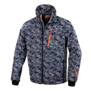 Softshell jas - camouflage grijs