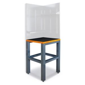 Hoekblad voor werkplaatsinrichting, 700x700 gecombineerd met poten