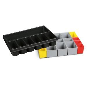 COMBO voorgevormde inlegbak met 7 vaks verdeling en 17 en 17 assortiments doosjes voor koffer C99C-V3