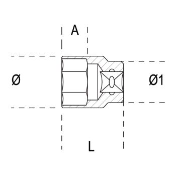 Beta Tools 900As-Hexagon Hand Socket 7//16 15,3 mm